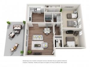 2 Bedroom Patio